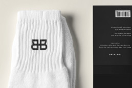 Black Bottom Socks Close Mockup