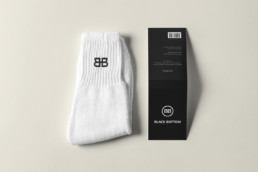 Black Bottom Socks Mockup