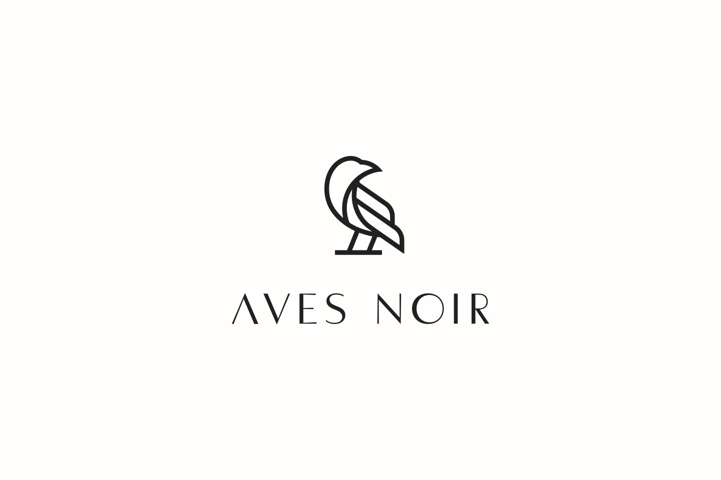 Aves Noir Lockup Stacked