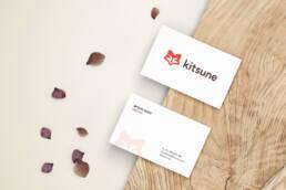 Kitsune Business Card Mockup