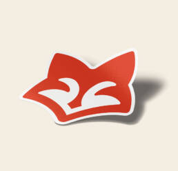 Kitsune Sticker Mockup