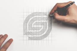 Genesis Logo Grid Sketch